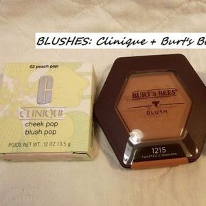 CLINIQUE + BURT's BEES  Blushes, Lot of 3